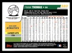 2006 Topps #580  Frank Thomas  Back Thumbnail