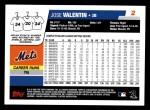 2006 Topps #2  Jose Valentin  Back Thumbnail