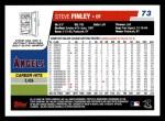 2006 Topps #73  Steve Finley  Back Thumbnail
