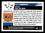 2006 Topps #283  Willie Randolph  Back Thumbnail
