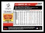 2006 Topps #387  Ken Griffey Jr.  Back Thumbnail