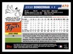 2006 Topps #470  Jeremy Bonderman  Back Thumbnail