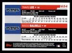2006 Topps #654   -  Travis Lee / Rocco Baldelli Rays Team Stars Back Thumbnail