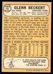 1968 Topps #101  Glenn Beckert  Back Thumbnail