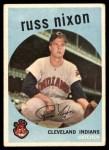 1959 Topps #344  Russ Nixon  Front Thumbnail