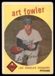 1959 Topps #508  Art Fowler  Front Thumbnail