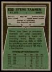 1975 Topps #177  Steve Tannen  Back Thumbnail