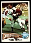 1975 Topps #450  Terry Metcalf  Front Thumbnail