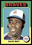 1975 Topps #650  Dave May  Front Thumbnail