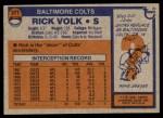 1976 Topps #371  Rick Volk  Back Thumbnail