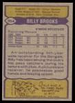 1979 Topps #354  Billy Brooks  Back Thumbnail