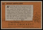 1956 Topps Davy Crockett #68   Heavy Artillery  Back Thumbnail
