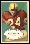 1953 Bowman #63  Leon Heath  Front Thumbnail