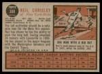 1962 Topps #308  Neil Chrisley  Back Thumbnail