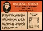1961 Fleer #15  Mickey Cochrane  Back Thumbnail