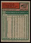 1975 Topps #574  Tony Taylor  Back Thumbnail