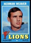 1971 Topps #183  Herman Weaver  Front Thumbnail