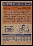 1972 Topps #113  Herm Gilliam   Back Thumbnail