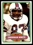 1980 Topps #106  Sherman White  Front Thumbnail