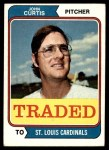 1974 Topps Traded #373 T  -  John Curtis Traded Front Thumbnail