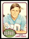 1976 Topps #172  Larry Seiple  Front Thumbnail