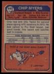 1973 Topps #445  Chip Myers  Back Thumbnail