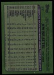 1982 Topps #22  Jim Beattie  Back Thumbnail