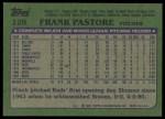 1982 Topps #128  Frank Pastore  Back Thumbnail