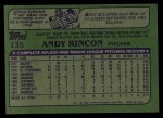 1982 Topps #135  Andy Rincon  Back Thumbnail