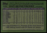 1982 Topps #264  Dan Quisenberry  Back Thumbnail