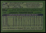 1982 Topps #295  Jason Thompson  Back Thumbnail