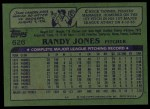 1982 Topps #626  Randy Jones  Back Thumbnail