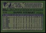 1982 Topps #679  Sammy Stewart  Back Thumbnail