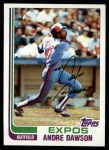 1982 Topps #540  Andre Dawson  Front Thumbnail