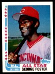 1982 Topps #342 xSig  -  George Foster All-Star Front Thumbnail
