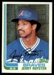 1982 Topps #608  Jerry Royster  Front Thumbnail