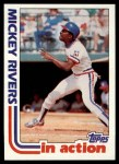 1982 Topps #705   -  Mickey Rivers In Action Front Thumbnail