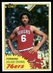 1981 Topps #30  Julius Erving  Front Thumbnail