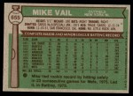 1976 Topps #655  Mike Vail  Back Thumbnail