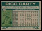 1977 Topps #465  Rico Carty  Back Thumbnail