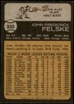 1973 Topps #332  John Felske  Back Thumbnail