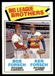 1977 Topps #632   -  Bob Forsch / Ken Forsch Big League Brothers Front Thumbnail