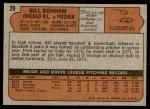 1972 Topps #29 YLW Bill Bonham  Back Thumbnail