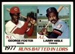 1978 Topps #203   -  George Foster / Larry Hisle RBI Leaders   Front Thumbnail