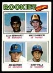 1977 Topps #494   -  Jim Gantner / Bump Wills / Mike Champion / Juan Bernhard Rookie Infielders   Front Thumbnail