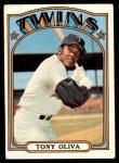 1972 Topps #400  Tony Oliva  Front Thumbnail