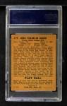 1940 Play Ball #177  Home Run Baker  Back Thumbnail