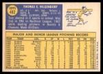 1970 Topps #482  Tom Hilgendorf  Back Thumbnail