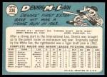 1965 Topps #236  Denny McLain  Back Thumbnail