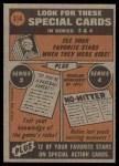 1972 Topps #314   -  Luis Aparicio In Action Back Thumbnail